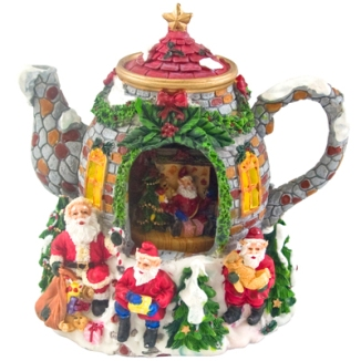 christmas tea pot