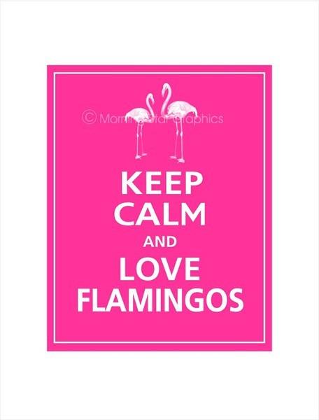 Keep calm flamingos