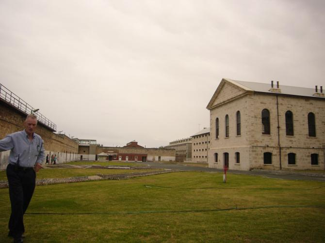 a view of some of the complex. The prison housed both men and women prisoners.
