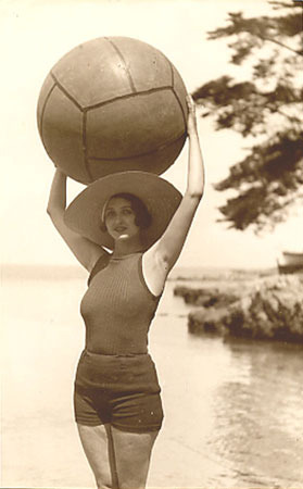 ball with woman