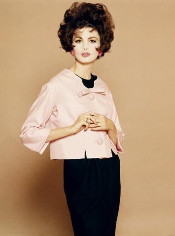 Model in Pink Silk Jacket by Mainbocher