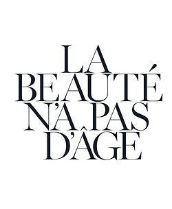 Translation: the beauty that never fades (or ages). Meaning, style, wit and character.