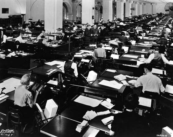 Office 1940_Accounting_Work_Room_First_Nat_Bank_of_Chicago_OM