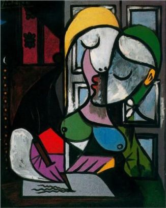 woman writing picasso