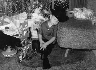 Christmas boy sleep