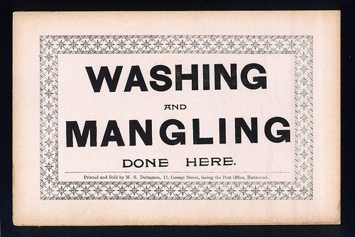 washing sign