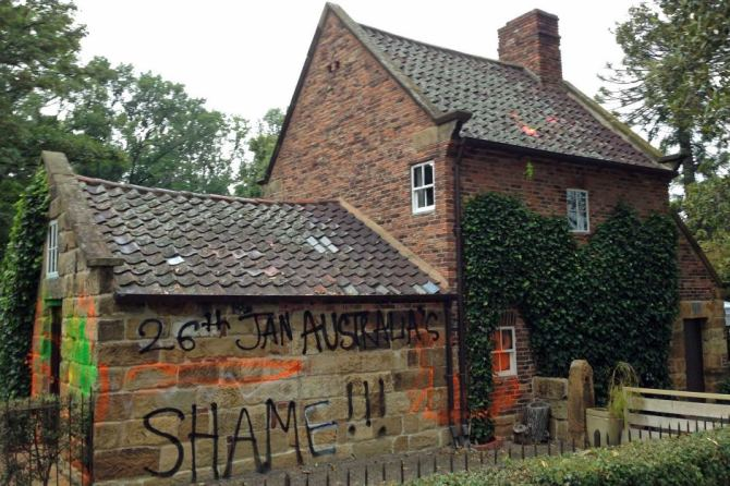 Cooks' Cottage graffitied