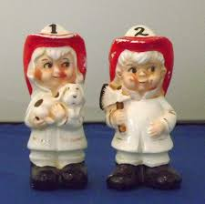 firemen salt and pepper shakers
