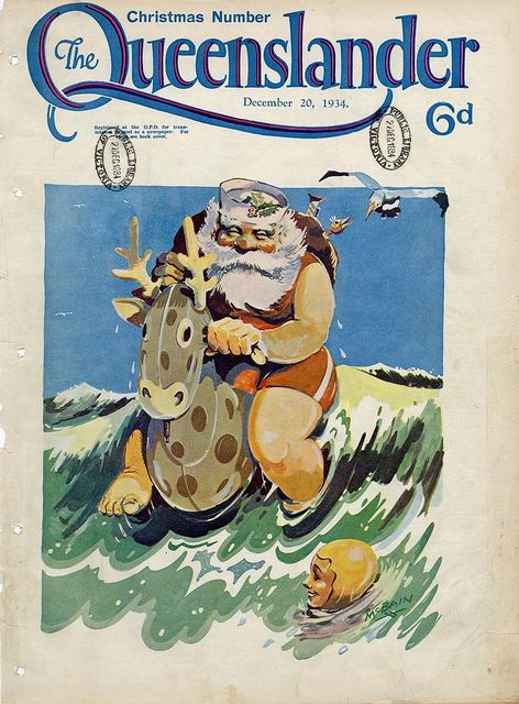 Illustrated front cover from The Queenslander December 20 1934. Via State Library of Queensland