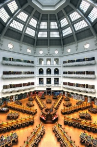La Trobe Reading Room showing Dome, State Library of Victoria. Melbourne Australia