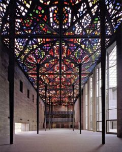 melbourne Stained Glass roof at National Gallery of Victoria, Melbourne