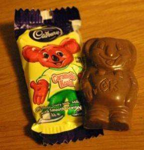 Caremello Koala - has a soft caramel centre.