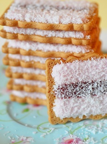 Iced Vo Vo biscuits. Great with a cup of tea!