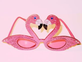 Flamingo glitter sunnies