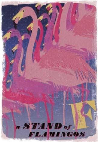 stand of flamingo