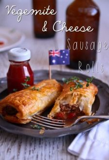 Sausage rolls with a vegemite twist